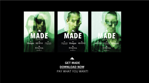 MADE: Chapter 1, the newest video from skate brand Emerica, is available online for anywhere from 1 to 10 -- your choice.