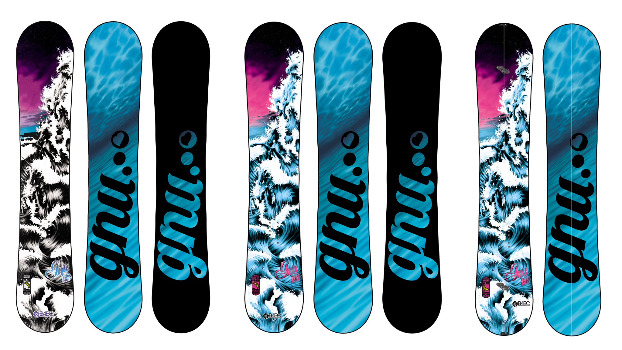 B-Pro Line, Gnu Snowboards