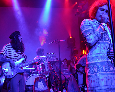 The Growlers' frontman Brooks Nielsen croons in costume.