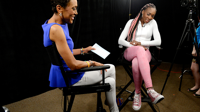Believe in yourself, seven-time Grand Slam singles champion Venus Williams told Robin Roberts. It's taking a chance because it's not always easy to believe in yourself. But take that chance and do it.