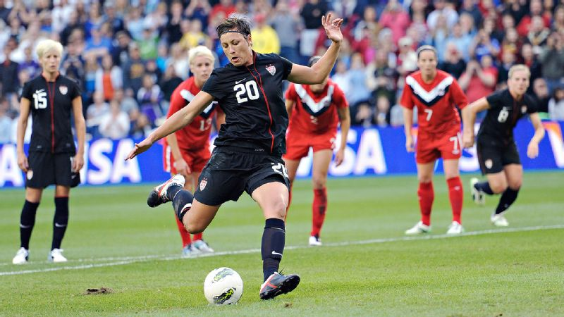 In their first match since returning from a devastating loss in the World Cup championship game, Abby Wambach scored the lone goal in a 1-1 draw with Canada at LiveStrong Sporting Park in Kansas City, Kan.