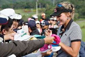 Lexi Thompson also turned pro early and has had no trouble handling the responsibilities that go along with it.