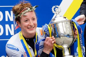 Tatyana McFadden of the United States won the women's wheelchair division of the 2013 Boston Marathon.