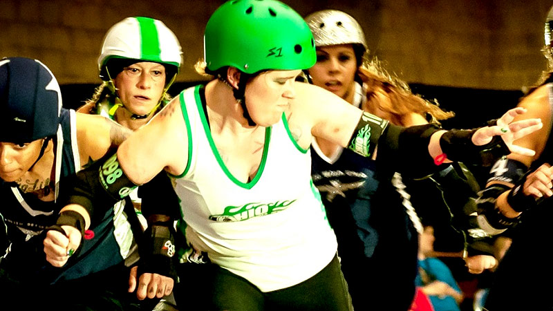 Amy Spears, formerly known as Alli Catraz, and the Ohio Roller Girls will be making their first appearance at the WFTDA championships later this week.I (Photo courtesy Joe Mac/Midnight Matinnee)/I