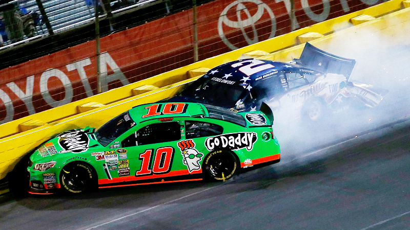 In the first on-track incident since their relationship was announced, Ricky Stenhouse Jr. caused a crash that took Danica Patrick out of the Coca Cola 600 on Lap 318 of 400. Patrick later admitted there were a few silent moments on the way home.