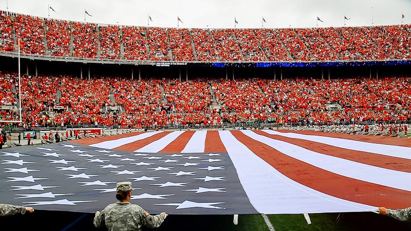 Ohio Stadium Flag