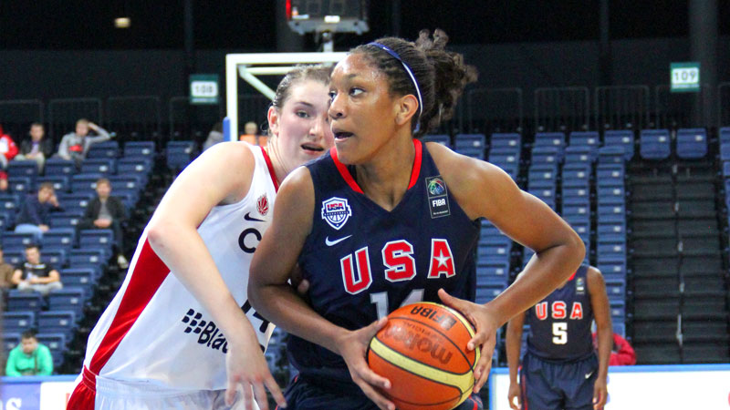 A'ja Wilson is one of three players heading to U18 trials who has already won a gold medal with USA Basketball. Brianna Turner and Recee' Caldwell are the others.