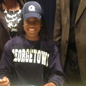 Dorothy Adomako, a 6-foot-1 wing and the No. 57 prospect in the espnW HoopGurlz Top 100, signed a national letter of intent to play at Georgetown. She's an outstanding talent and has incredible potential, Hoyas coach Jim Lewis said. The sky's the limit. I(Photo Courtesy Dorothy Adomako)/I