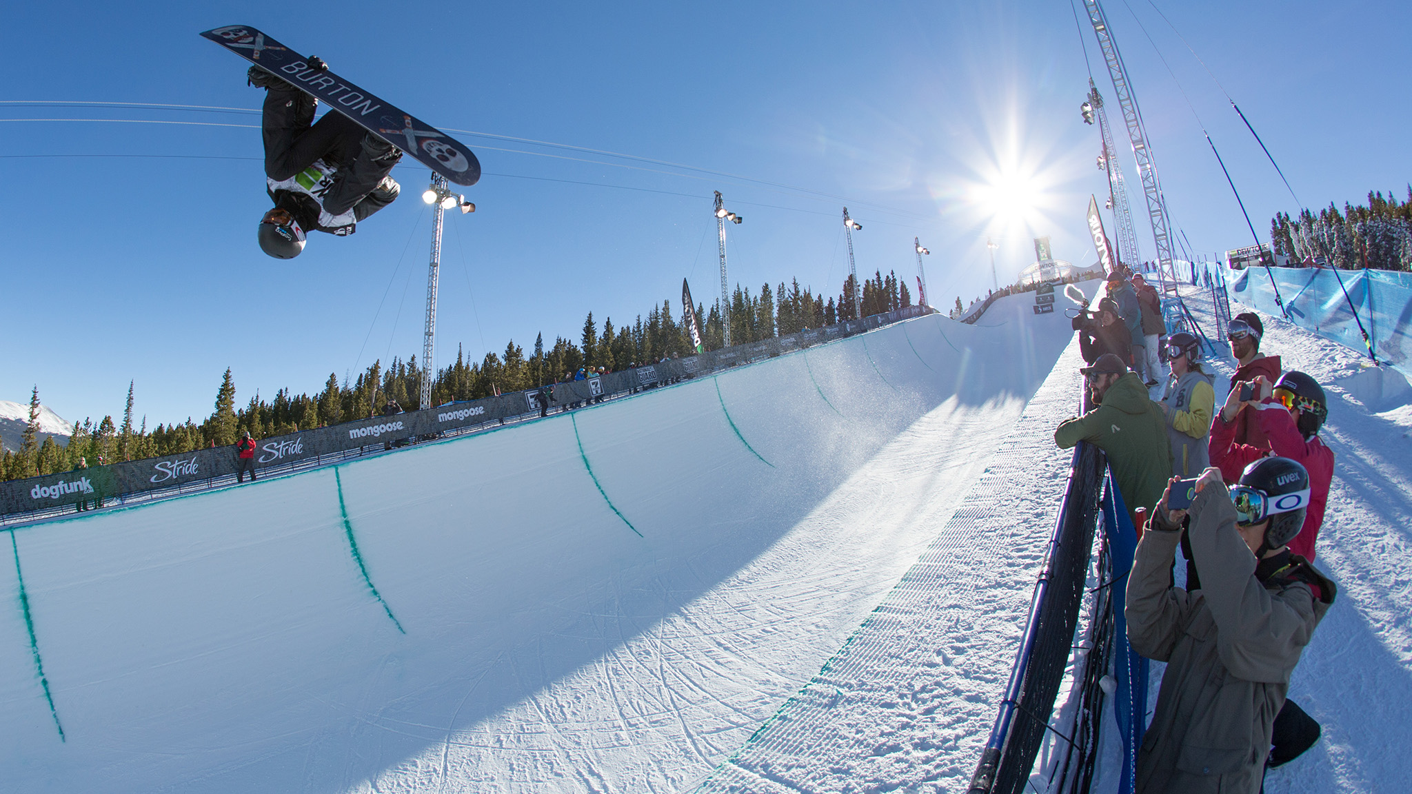 Shaun White, seen here during Dew Tour Mountain Championships qualifying, finished in second place behind Greg Bretz on Saturday in the Superpipe finals.