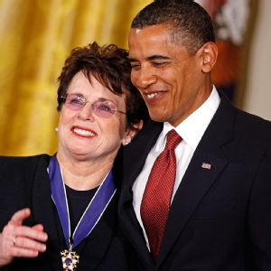 Billie Jean King and Barack Obama