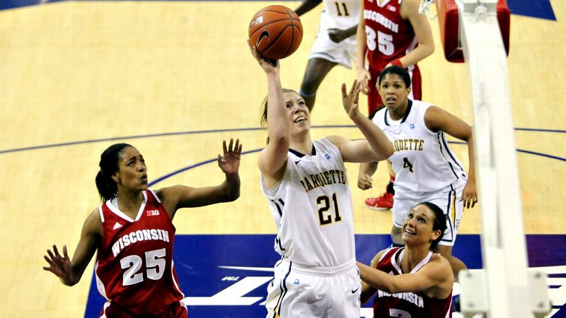 Marquette's senior might be the best Plouffe in college basketball this season, and that's no small feat as long as twin sister Michelle Plouffe still plays for Utah. Katherine has been a fixture in Marquette's starting lineup since she was a freshman, but at 18.1 points and 11 rebounds per game, she is emerging as one of the nation's best post players. -- Graham Hays (Photo: Courtesy of Marquette Athletics)