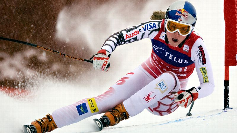 Vonn's reign of dominance began in 2008 when she became the second American woman to win the overall World Cup title. She went on to repeat that feat in 2009 and 2010, making her the third woman and second American of either gender to own three consecutive titles. She won her most recent overall World Cup title in 2012. (Photo: Frank Gunn/AP Photo/The Canadian Press)