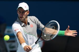 Novak Djokovic took the first set against Leonardo Mayer in just 22 minutes Wednesday.