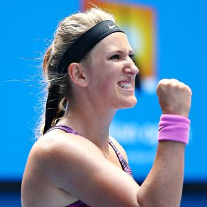 No. 2 seed Victoria Azarenka won 13-of-17 points at the net against Sloane Stephens.