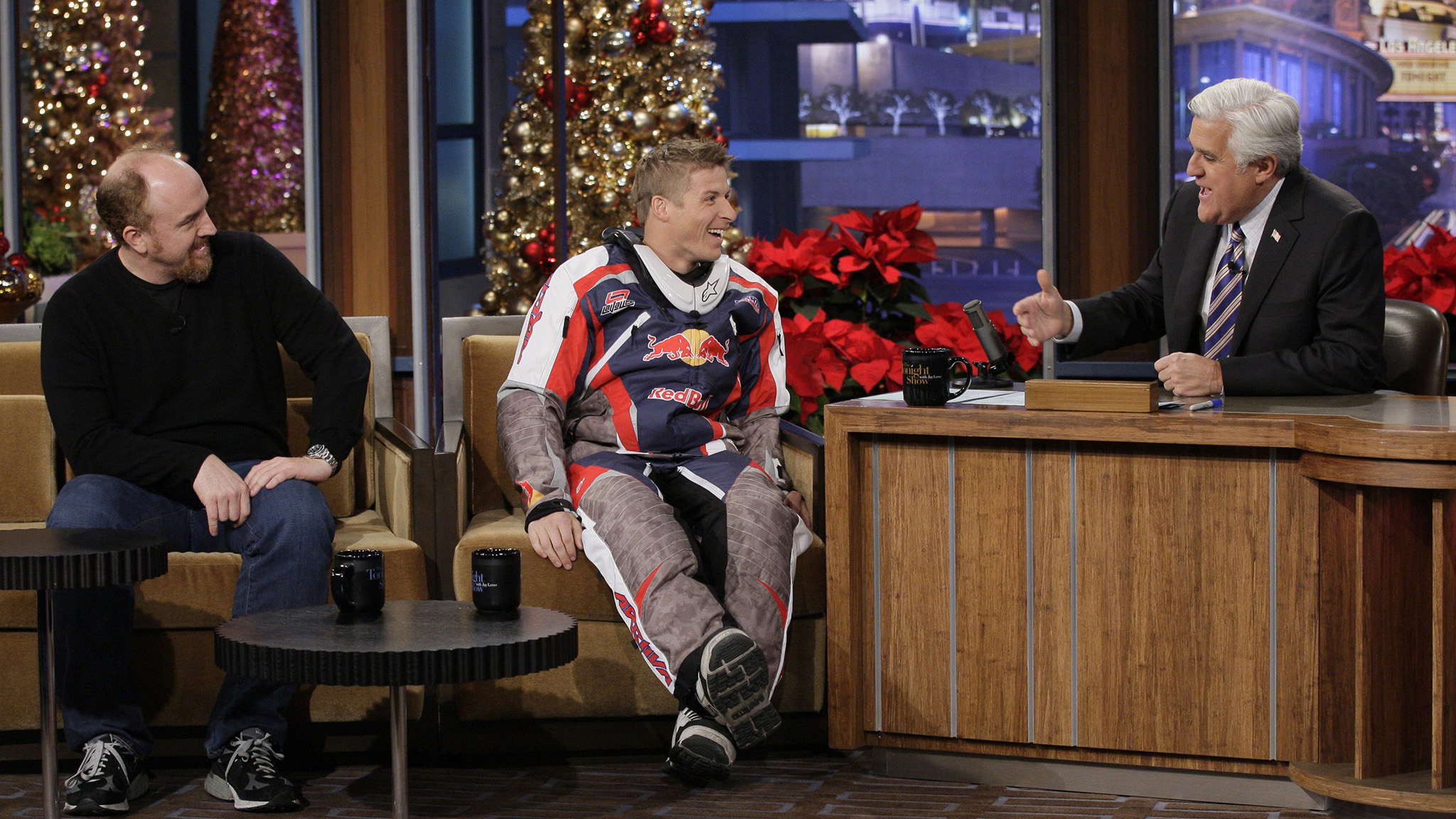 To promote his world record distance jump in 2011, LaVallee appeared on The Tonight Show with Jay Leno, alongside comedian Louis C.K.
