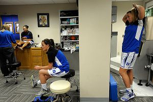 Before and after practices, there's always someone getting some type of treatment in Duke's training room.
