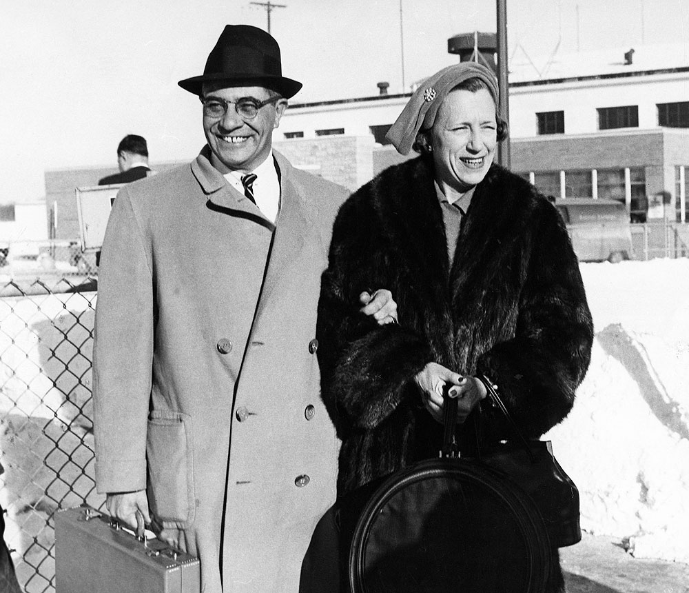 Vince Lombardi and his wife Marie