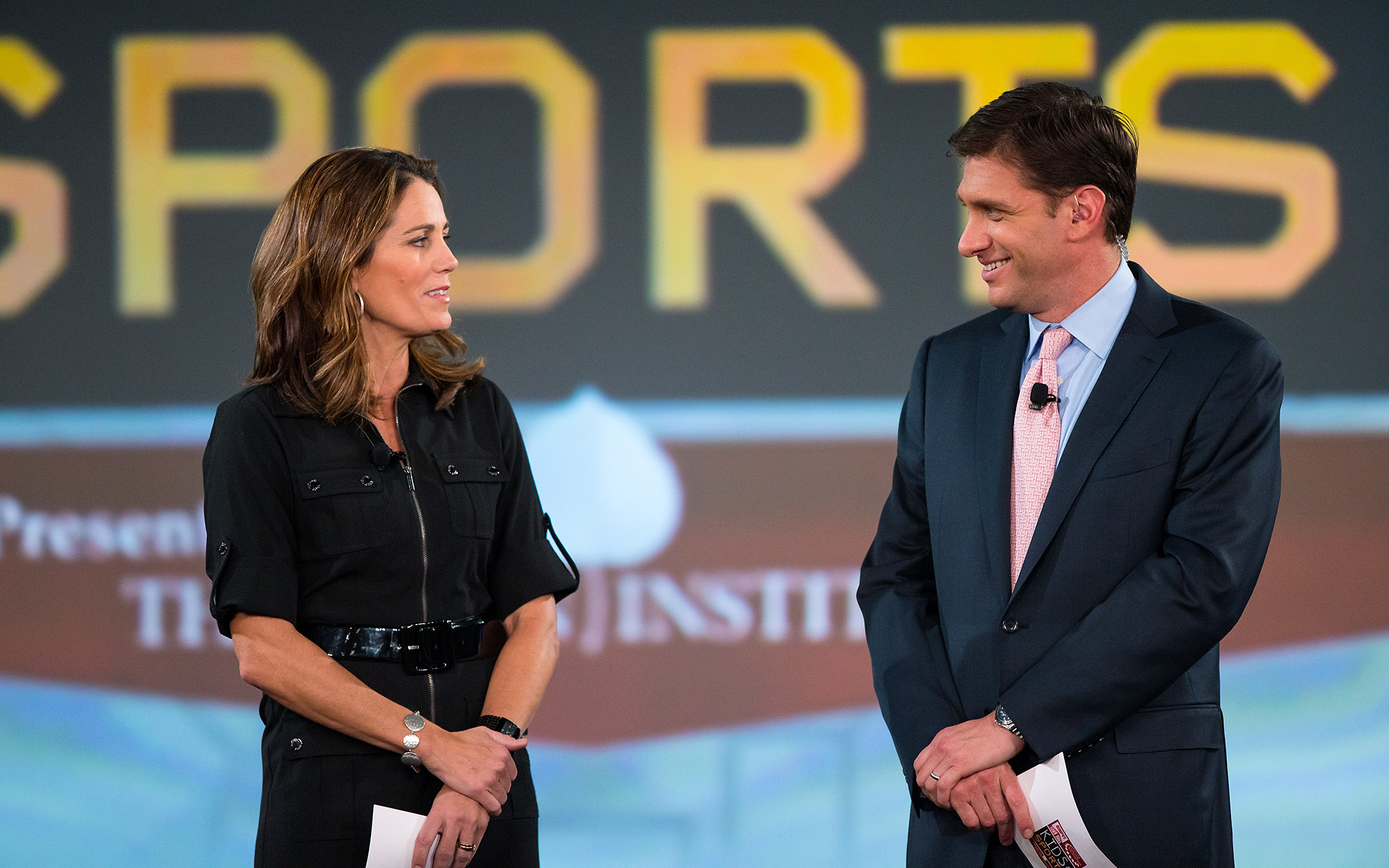 Julie Foudy and Mike Greenberg