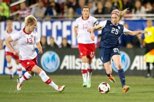 In her first start for the national team, 20-year-old Morgan Brian showed great composure and skill.