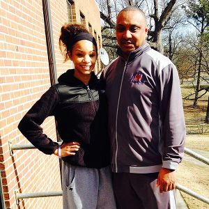 Lucky Rudd says she thinks of her dad only as Coach when they're on the court.