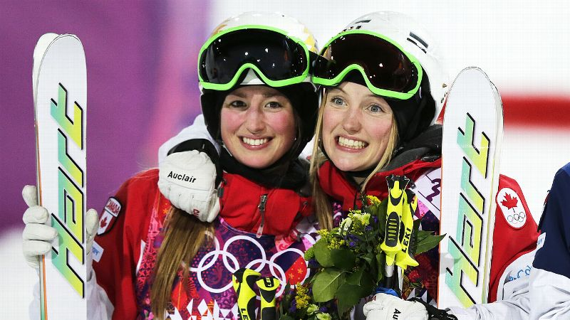 Canada's Justine Dufour-Lapointe, right, and her sister Chloe Dufour-Lapointe finished 1-2 in the women's moguls. Justine, 19, and Chloe, 22, joined French skiers Marielle and Christine Goitschel and Austrian lugers Doris and Angelika Neuner on the short list of sisters to win Olympic gold and silver in the same event. A dream. A long time, we've dreamed this, said their father, Yves. It doesn't get any better than this. i(Photo: AP)/i