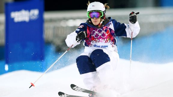 Hannah Kearney didn't repeat as Olympic champ but landed on the Sochi podium, winning bronze.