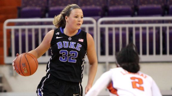 Duke's Tricia Liston is averaging a team-high 18.2 points on 56.3 percent shooting.
