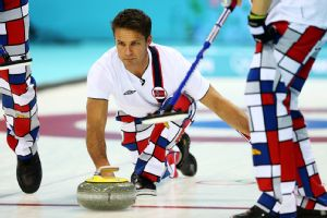Davis is a fan of the Norwegian curling team's pants, calling them very strong.