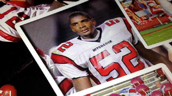 Football was a refuge for Michael Sam, who had a difficult childhood, during high school.