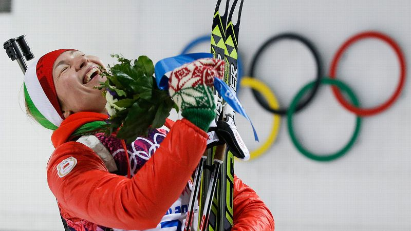 Her biathlon competitors and the Sochi crowds have been in awe. But how does Darya Domracheva feel about hauling in an unprecedented three gold medals at a single Olympics? Maybe it's strange, but I don't feel like I've done something special, the 27-year-old Belarusian said after winning the 12.5-kilometer mass start on Monday. I just tried to enjoy myself and I did my race with a laugh. But for sure, it's amazing. i(Photo: AP)/i
