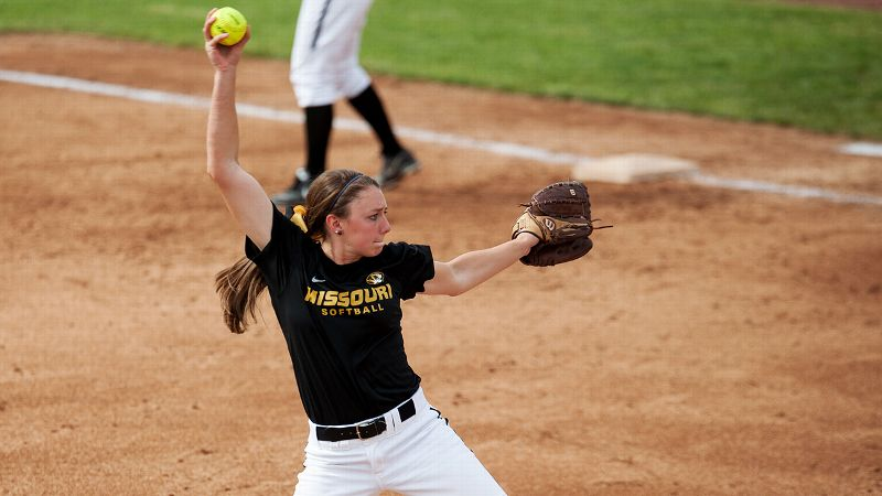 Tori Finucane, along with fellow freshman pitcher Casey Stangel, will try to help Missouri find success without graduated star Chelsea Thomas.