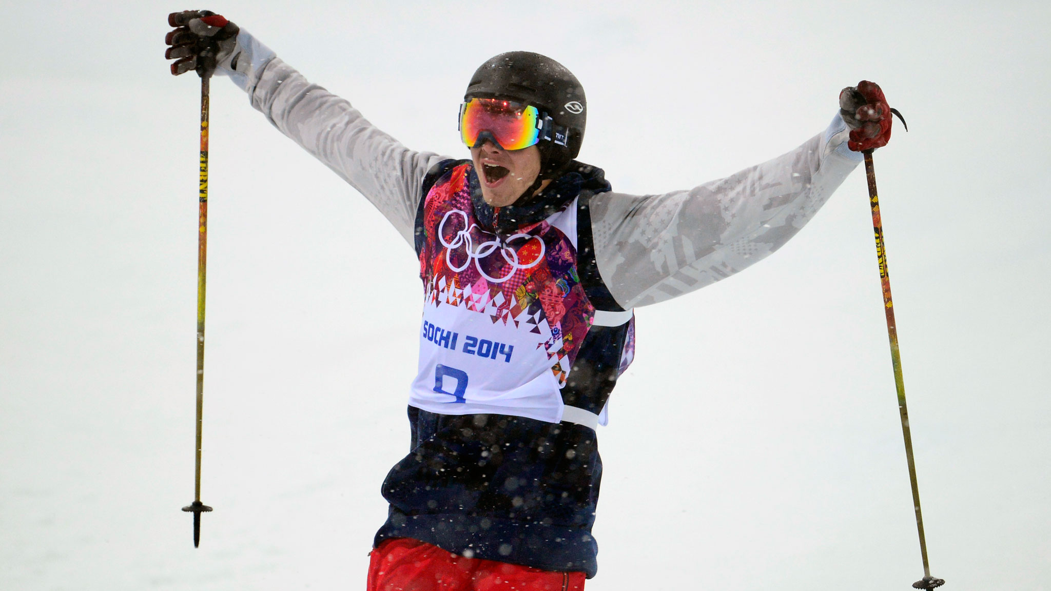 American David Wise won gold at ski halfpipe's Olympic debut.