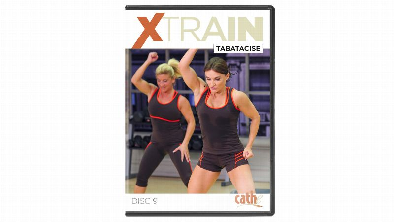 In XTRAIN Tabatacise (22.97), Cathe Friedrich uses tabata training, or high-intensity intervals, to improve your aerobic capacity and increase your body's fat- and calorie-burning capacity -- all in four minutes. Each tabata workout consists of eight rounds of a 20-second interval of work followed by a 10-second recovery period. Because you're working with negative rest periods, your heart rate never fully recovers between rounds so you're constantly working. This video includes five tabata workouts with a step recovery between to bring down your heart rate. You can do a tabata (or two or three) on its own or as an add-on to your other workouts for a quick, intense challenge.