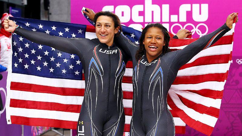 Feb. 19: W Silver Medalists Elana Meyers and Lauryn Williams