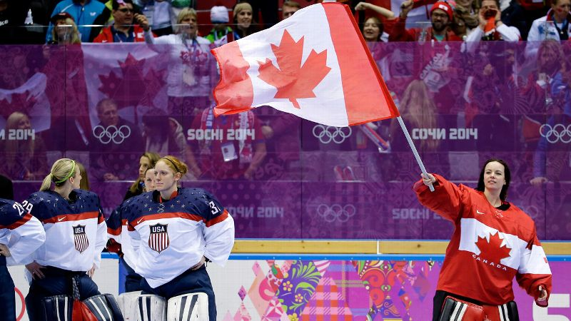 Considered one of the biggest rivalries in women's sports, the USA and Canada squared off at the 2014 Sochi Games with a women's hockey gold medal on the line. The three-time defending champion Canadians had topped the U.S. in the qualification round, a game that renewed fan interest in the rivalry between the neighboring powers. Late in the title game, the Americans held a commanding 2-0 lead, but the Canadians stormed back and scored two goals in the final moments to force overtime. Team Canada ultimately won its fourth consecutive gold medal by a 3-2 score.