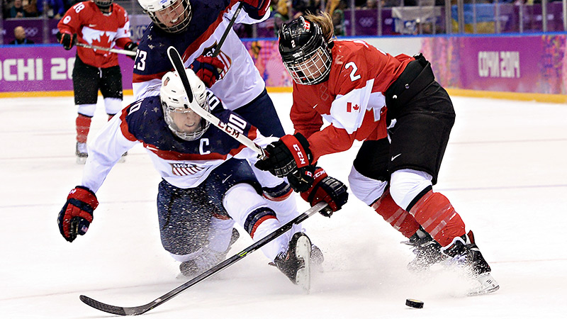 With a late U.S. collapse in the gold-medal game at the Sochi Olympics, the plot in the USA-Canada women's hockey rivalry only thickened on Thursday with a 3-2 overtime win for Canada. In honor of their latest showdown, we're taking a look at some other great rivalries in women's sports history. (Photo: Getty Images)