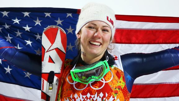 Burke Mountain Academy grad Mikaela Shiffrin, 18, is the youngest Olympic slalom gold medalist.