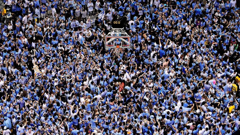 Students celebrated after North Carolina upset Duke on Thursday night. And several people found a problem with that.