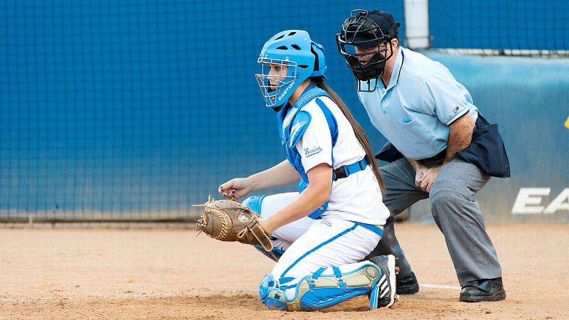 Though she's been a catcher for only a few months, Stephany LaRosa is already calling the pitches for UCLA.