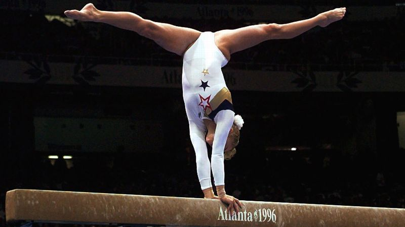 Shannon Miller took home the gold medal on the balance beam at the 1996 Atlanta Games, one of seven Olympic medals she has claimed.