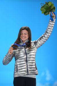 Kelly Clark won her third Olympic medal in Sochi. Though it wasn't gold, she's happy with her performance there.