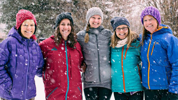 The Shifting Ice  Changing Tides team, from left: Martha Hunt, Nat Segal, McKenna Peterson, Pip Hunt and Meghan Kelly.