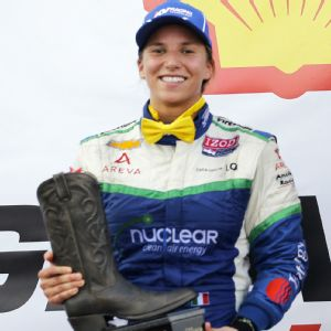 Simona de Silvestro is coming off her best season in IndyCar, including a second-place finish at Houston.