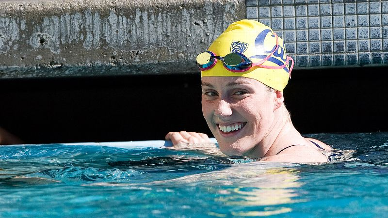 Missy Franklin has not been weighed down by her all her international medals in her freshman season at Cal. The four-time gold medalist in London will be making her debut at the NCAA championships in Minneapolis and is slated to compete in the 100-, 200- and 500-yard freestyle. She is the Pac-12 champion in all three of those events.