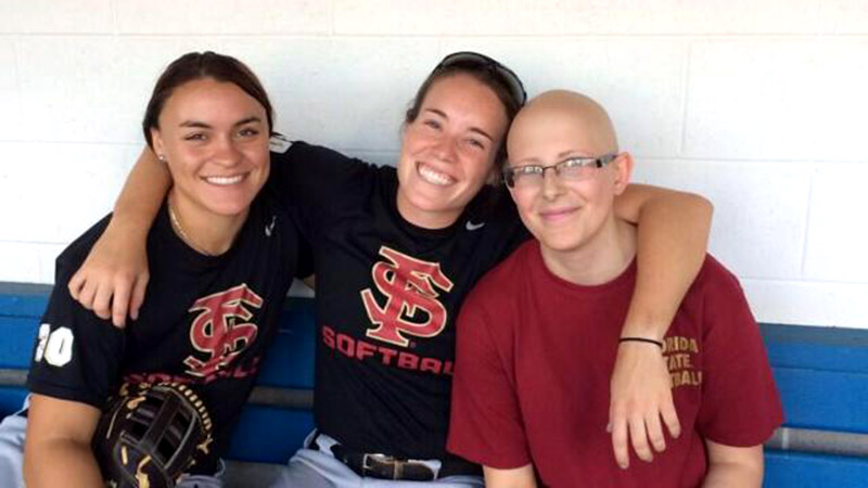 The FSU softball team has made Taylor Foster part of its family, and she attends games as often as she can.