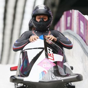 Elana Meyers won the Olympic silver medal in women's bobsled just a little over a month ago.