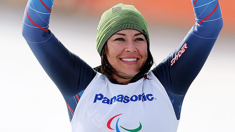 Alana Nichols won the sitting downhill silver at the 2014 Paralympics, just missing gold by a little over a tenth of a second.