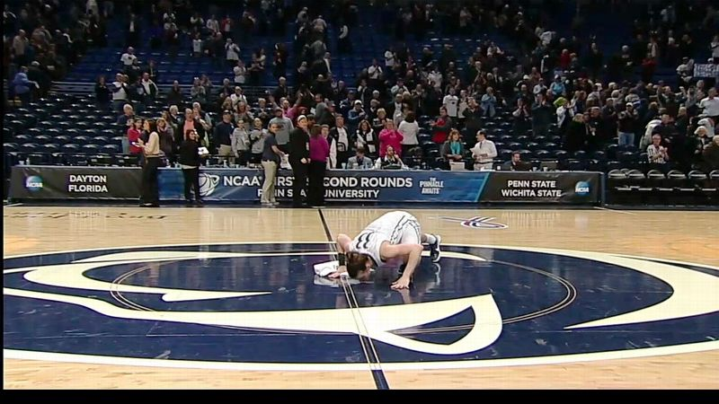 After a win over Florida on Tuesday night, Maggie Lucas bid farewell to the Bryce Jordan Center.