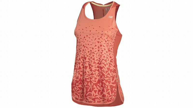 This tank lowers the temperature of your skin as you start to warm up during your run using a cooling technology to quickly release the heat as you workout. The silky fabric offers UPF 30 sun protection, is quick-to-dry and antimicrobial.