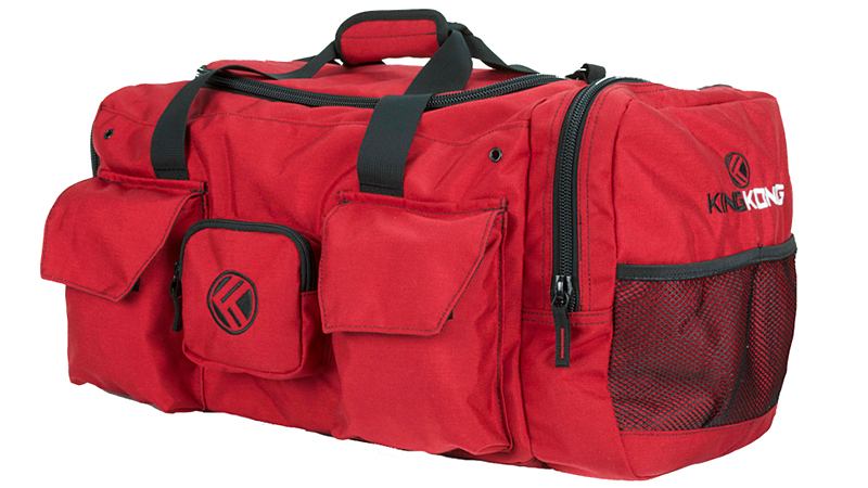 This bag secures everything you might possibly need for a workout and keeps it organized. Made of heavy-duty canvas construction with double-stitched seams, this duffel offers a dual shoe compartment, a section for wet towels or sweaty clothes, and plenty of pouches and pockets -- some zippered, some with Velcro and others with open mesh.
